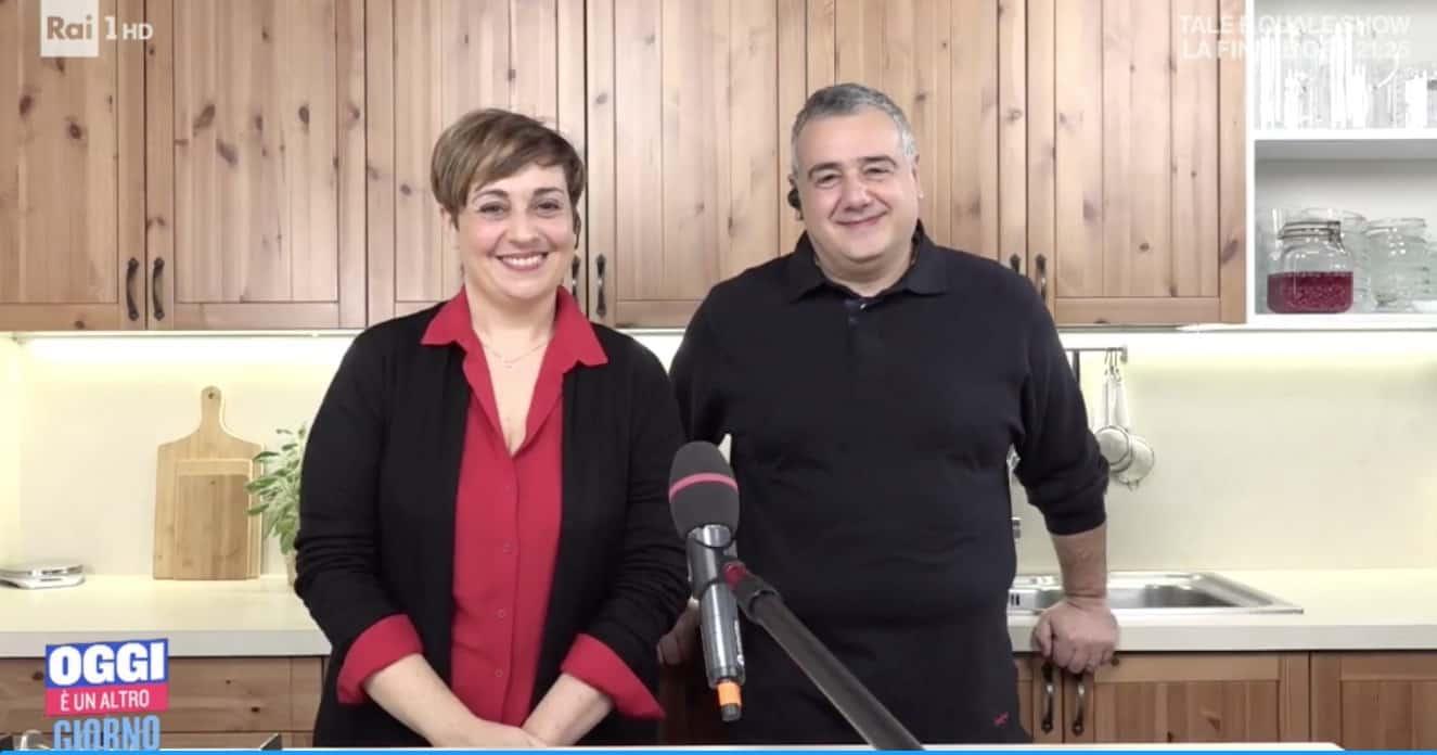 Benedetta Rossi e Marco Gentili dalla cucina di casa a Oggi è un altro giorno (Foto)