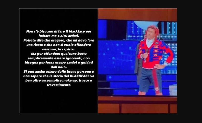 Ghali polemico dopo la sua imitazione a Tale e Quale show condanna il blackface