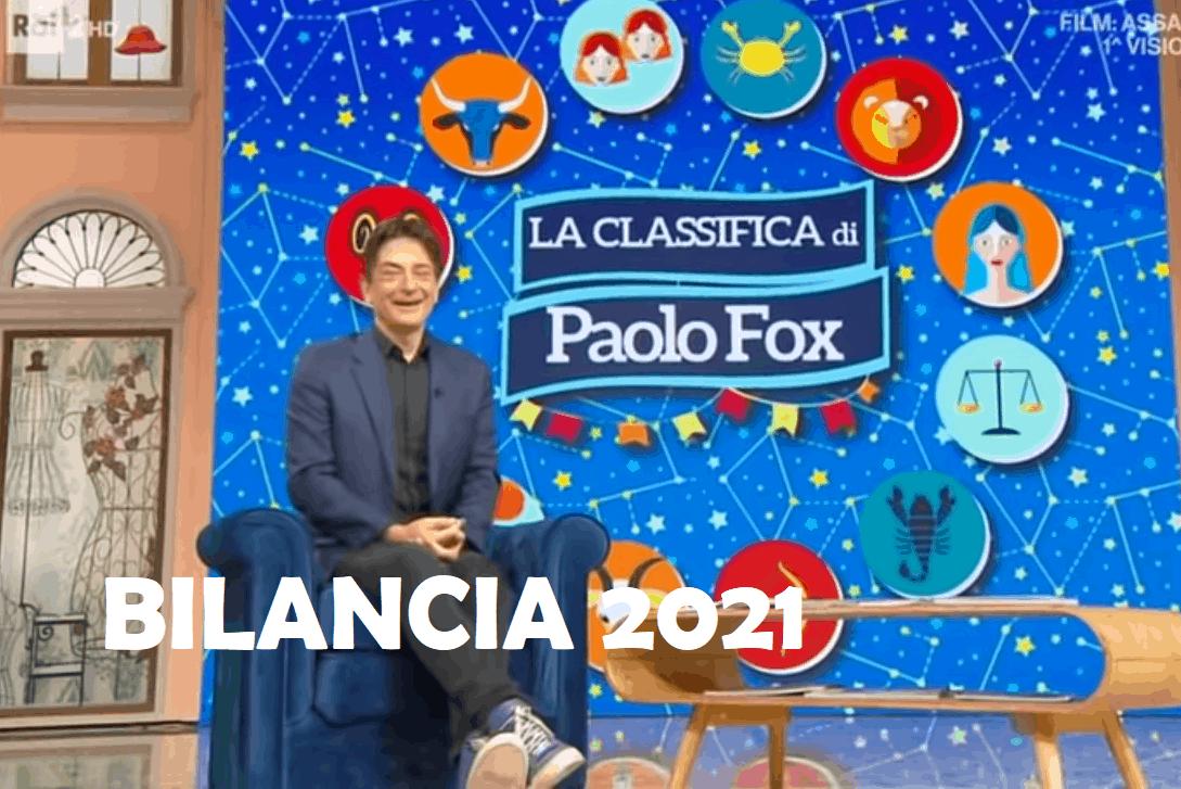 Oroscopo Paolo Fox 2021 Bilancia: il nuovo anno mese per mese