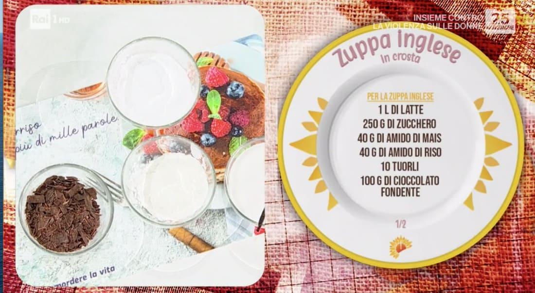 Zuppa inglese in crosta di zia Cri con le ricette E' sempre mezzogiorno