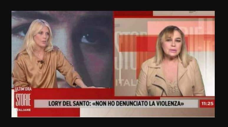 Lory Del Santo a Storie Italiane racconta di una violenza subita: minacciata con un coltello