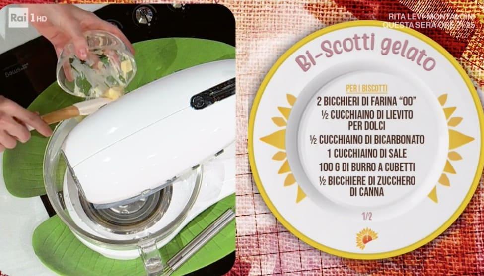 Biscotti al cioccolato con gelato Nutella, ricette E' sempre Mezzogiorno di Sara e Max