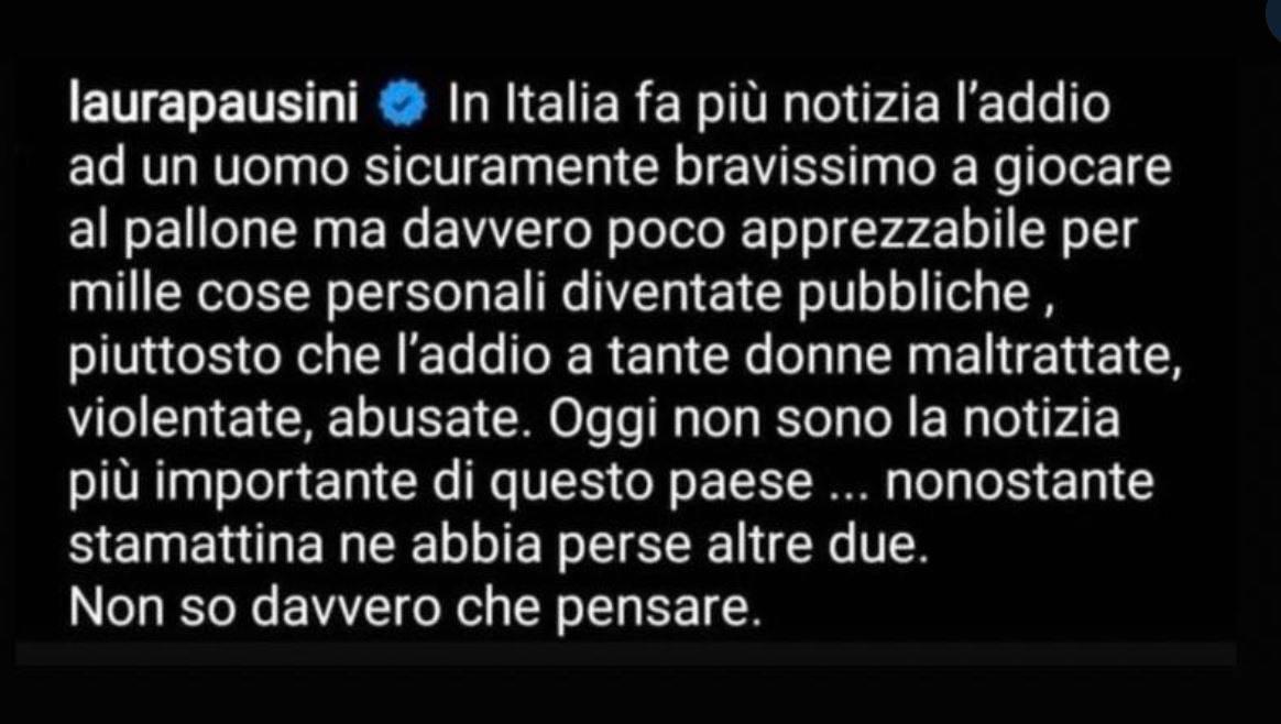 Al commento di Laura Pausini su Maradona risponde anche Fiorella Mannoia
