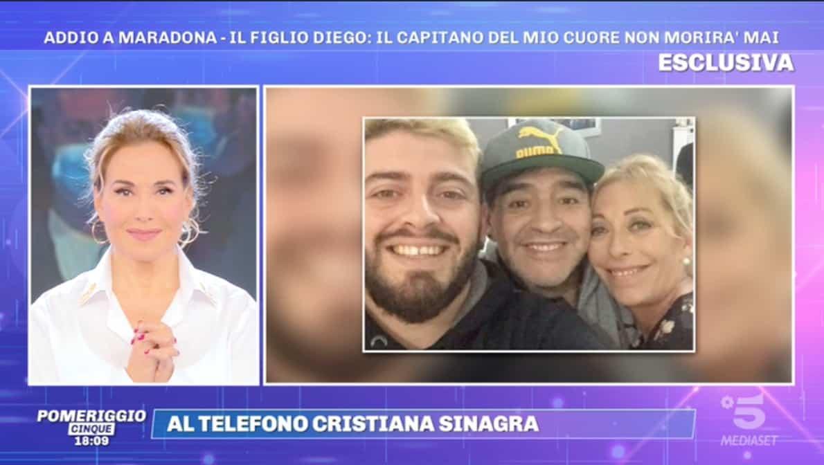 Cristiana Sinagra difende Maradona dalle dichiarazioni di chi non ha rispetto (Foto)