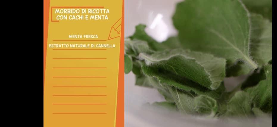 Ricetta Marco Bottega: morbido di ricotta cachi e menta per Ricette all'italiana