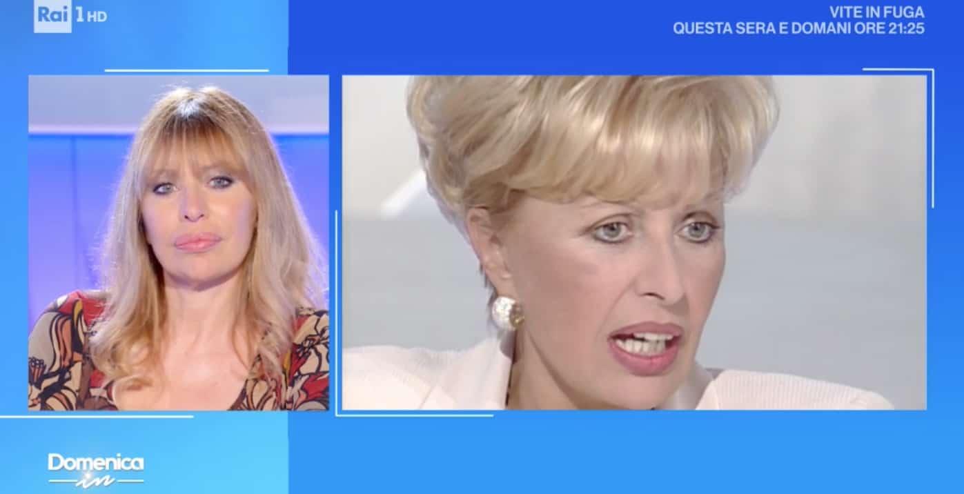 Alessandra Mussolini a Domenica In, mamma Maria chiama in diretta (Foto)