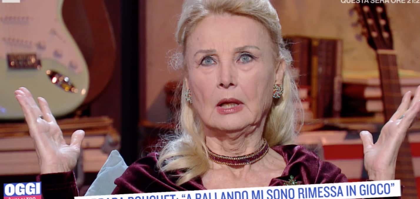 Barbara Bouchet sarà da sola a Natale e in tv sfoglia l'album dei ricordi