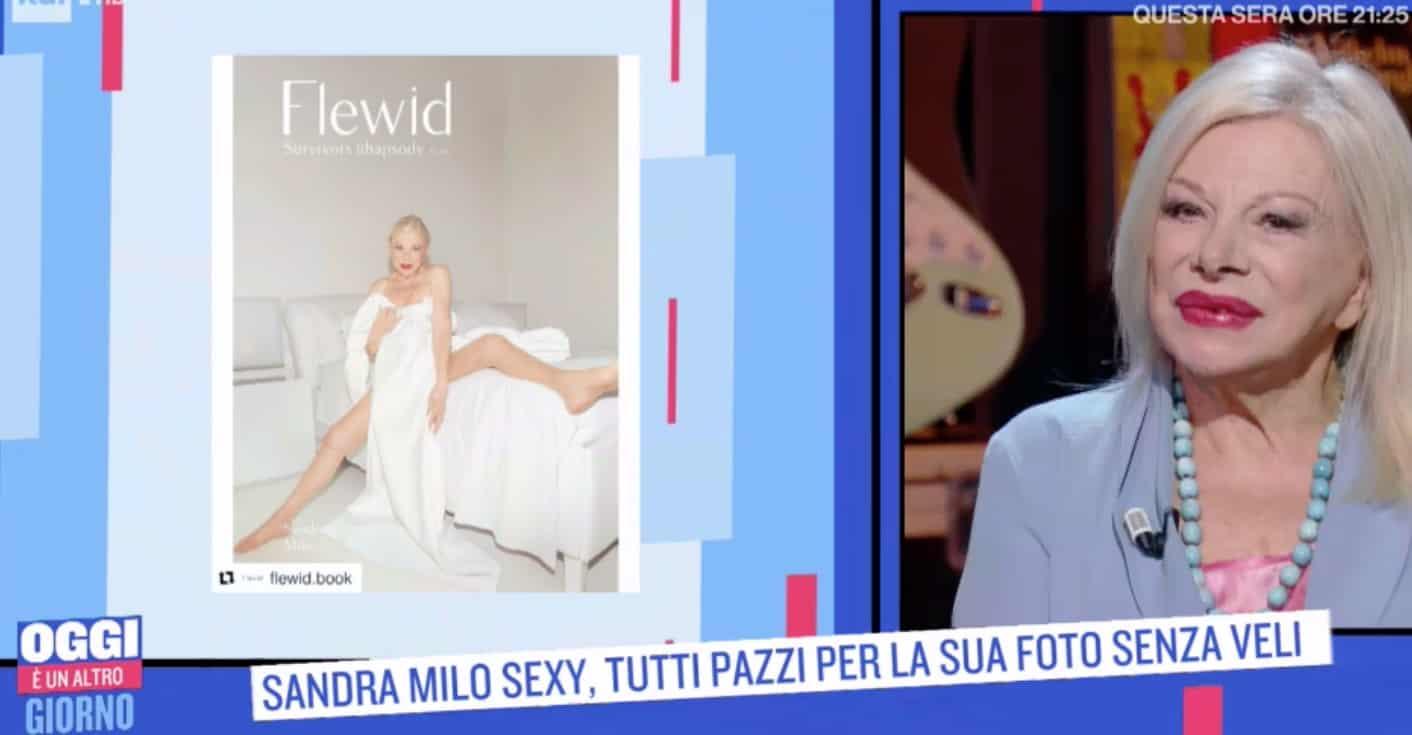 Sandra Milo senza veli alla sua età, orgogliosa sulla copertina di Flewid (Foto)
