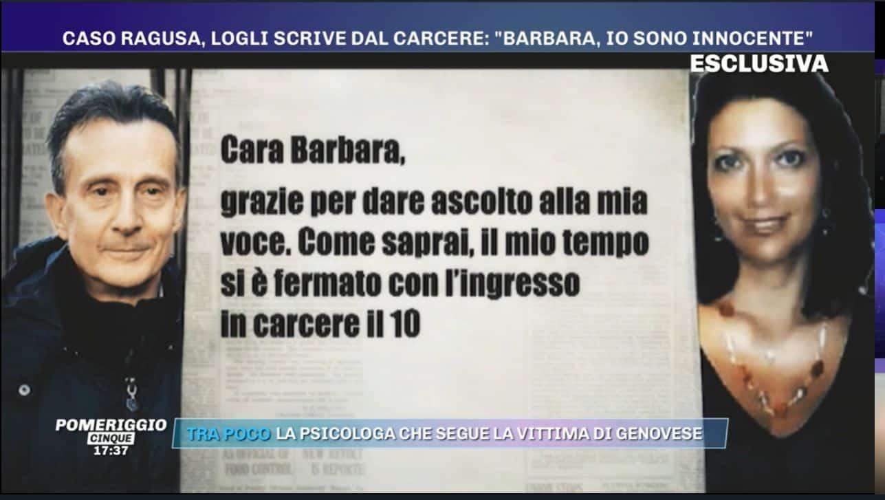 "Antonio Logli scrive a Barbara d'Urso: ""Roberta torna a casa"""