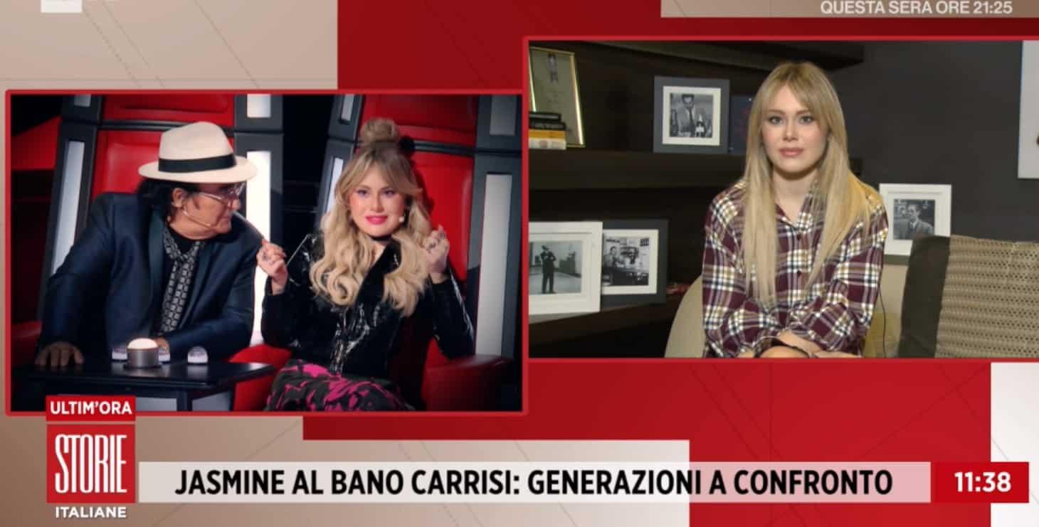 Jasmine Carrisi a Storie Italiane chiarisce la sua presenza a The Voce Senior, è la risposta migliore (Foto)
