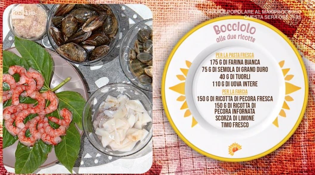 Bocciolo alle due ricotte con frutti di mare di Fabio Potenzano per le ricette E' sempre mezzogiorno