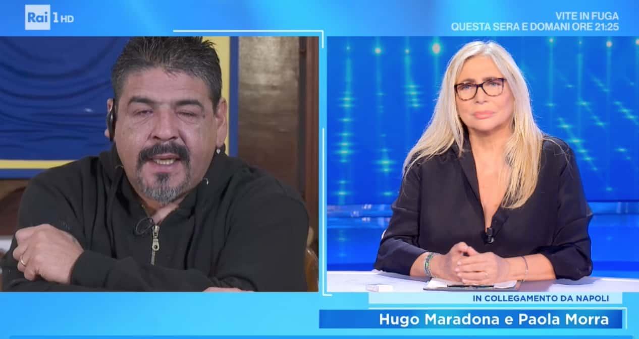 Il fratello di Maradona a Domenica In: Hugo attende l'esito dell'autopsia