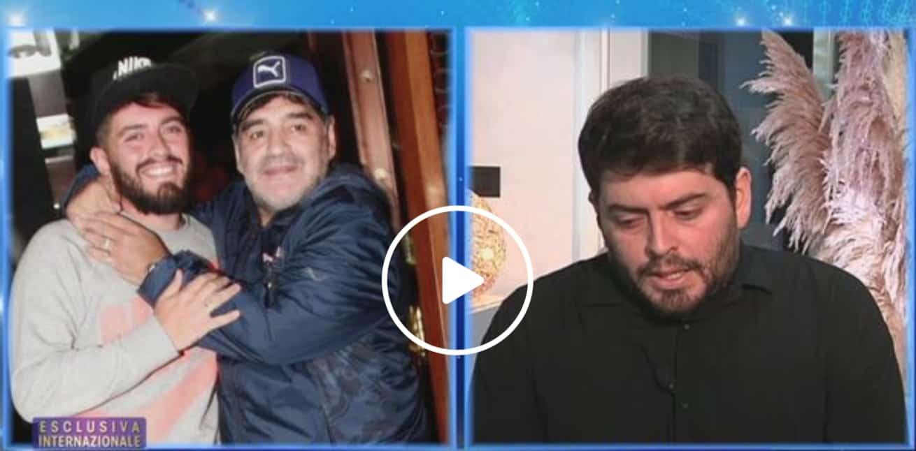 Diego Maradona jr piegato dal dolore, per la prima volta parla della morte del padre (Foto)