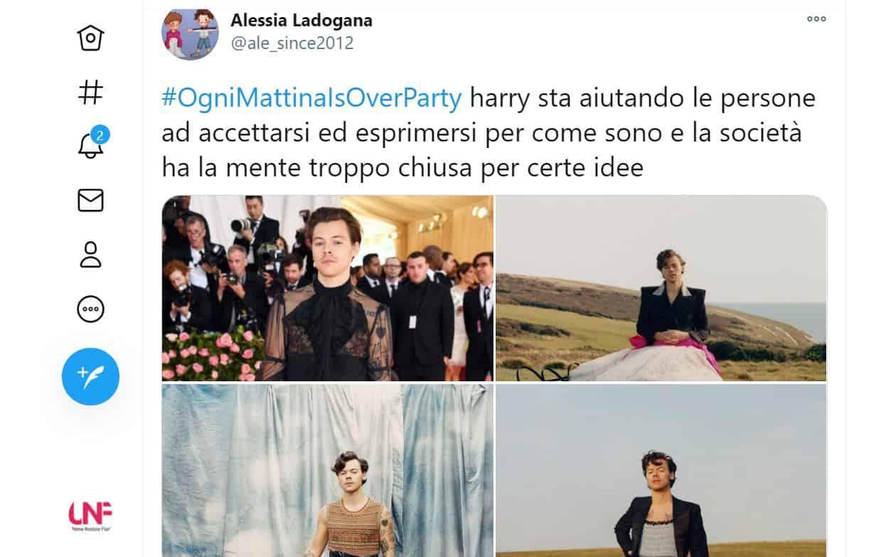 Bufera su Ogni Mattina, Caterina Collovati definisce Harry Styles pagliaccio: scatta la rivolta social