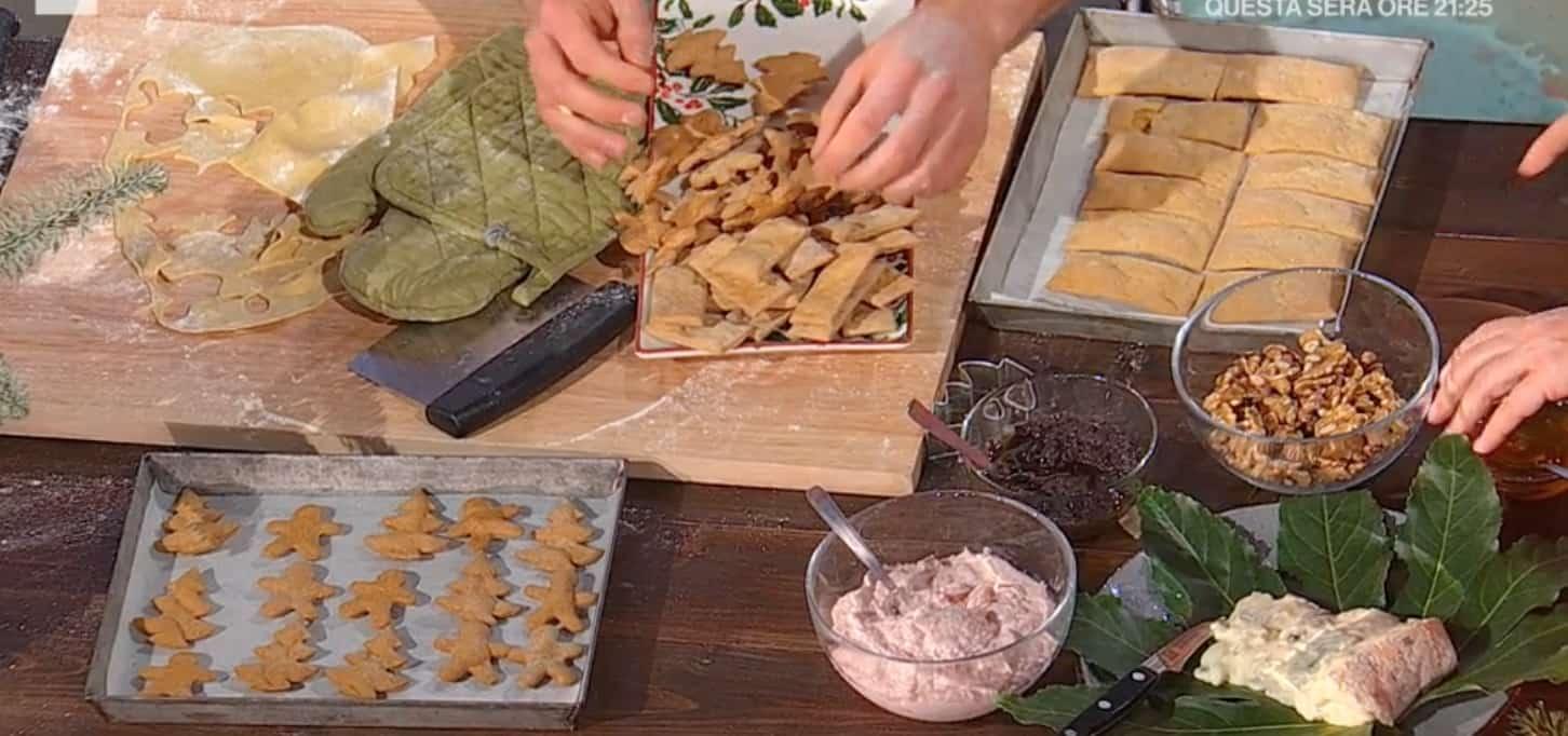 Crackers natalizi di Fulvio Marino, la ricetta senza lievito per E' sempre mezzogiorno