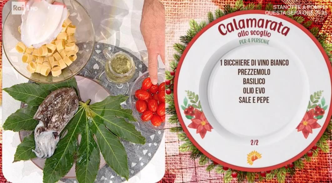 Calamarata allo scoglio di Mattia e Mauro Improta per le ricette delle feste di Natale