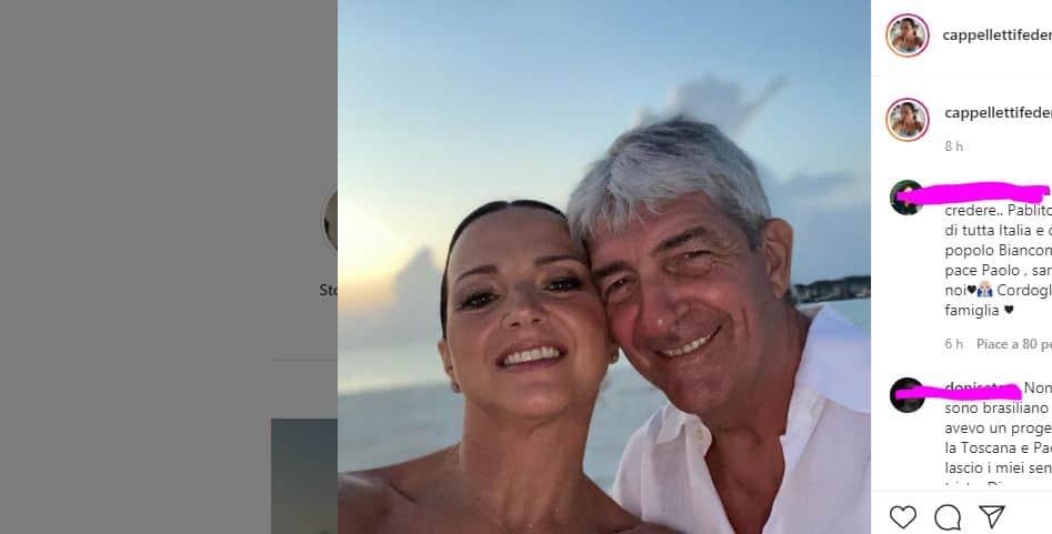 """Le dolci parole di addio di Federica a Paolo Rossi: """"Dopo di te il niente assoluto"""""""