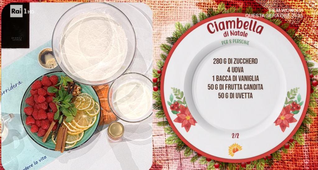 La ciambella di Natale di zia Cri, la ricetta E' sempre mezzogiorno dedicata a Benedetta Rossi