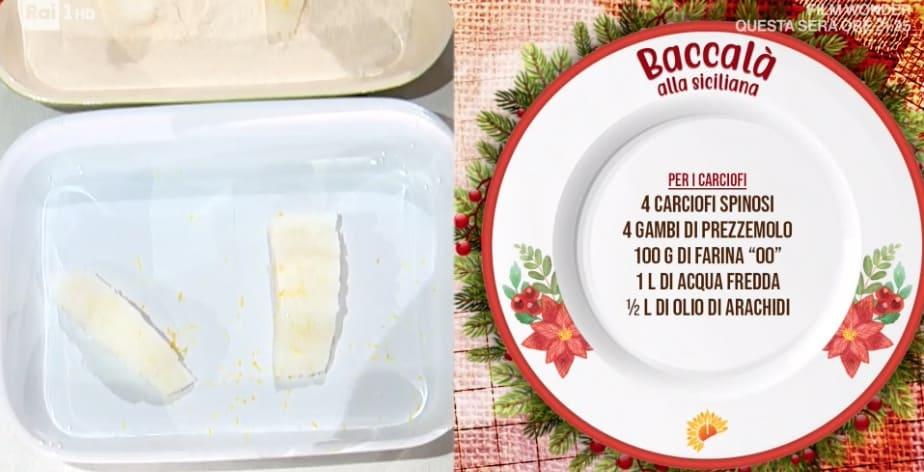 Baccalà alla siciliana per il Natale di Fabio Potenzano, ricette E' sempre mezzogiorno
