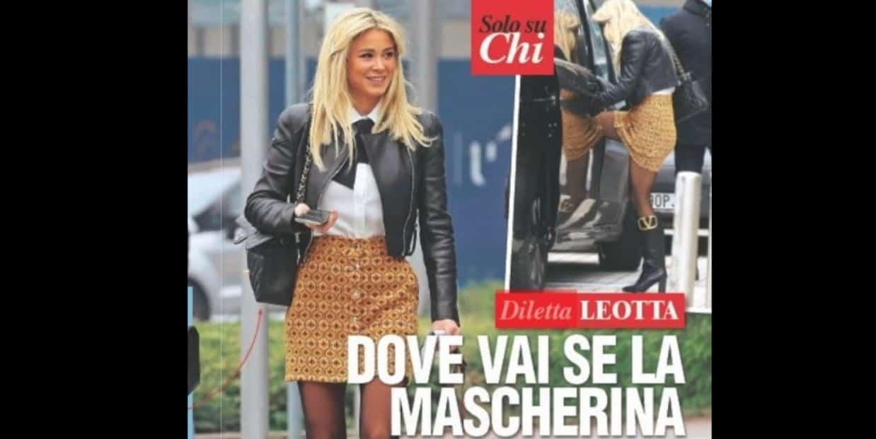 Diletta Leotta che look ma senza mascherina c'è una pioggia di critiche (Foto)
