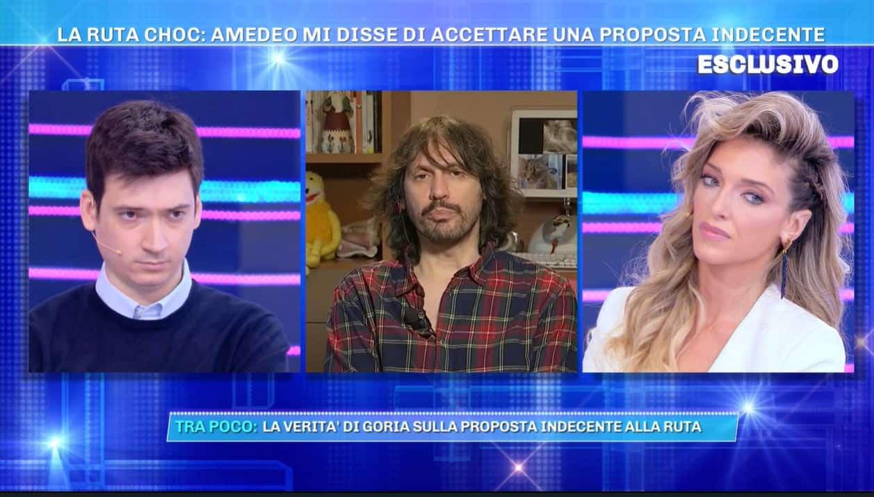 A Domenica Live Guenda Goria difende suo padre ma Gian Amedeo si schiera con Maria Teresa Ruta