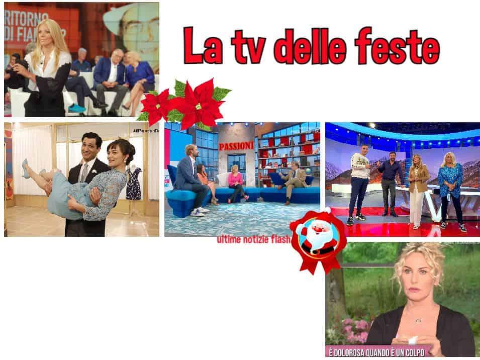 Canale 5 spegne il day time per Natale, Rai 1 resiste e va avanti