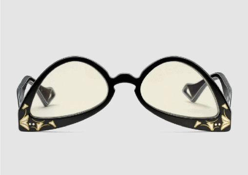 occhiali rovesciati gucci
