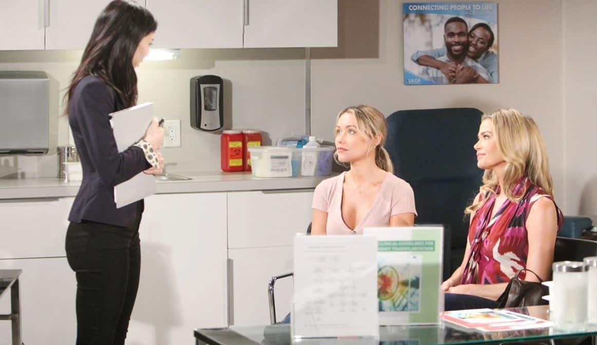Beautiful anticipazioni: Katie sta per ricevere il rene da Flo ma nessuno lo sa