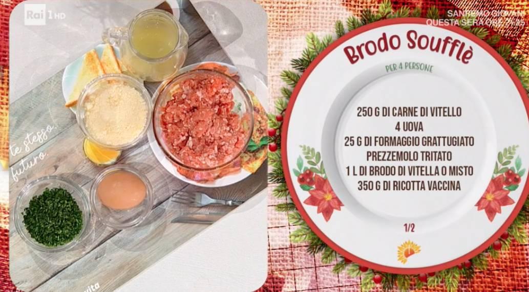 Brodo soufflè di Anna Moroni ma è zia Cri che propone la ricetta di Natale