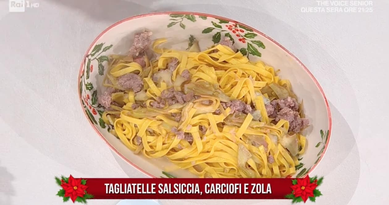 Ricette zia Cri: tagliatelle con salsiccia, carciofi e zola da E' sempre mezzogiorno
