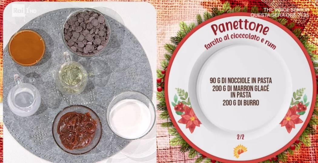 Ricette Luca Montersino, panettone farcito al cioccolato: Natale a E' sempre mezzogiorno