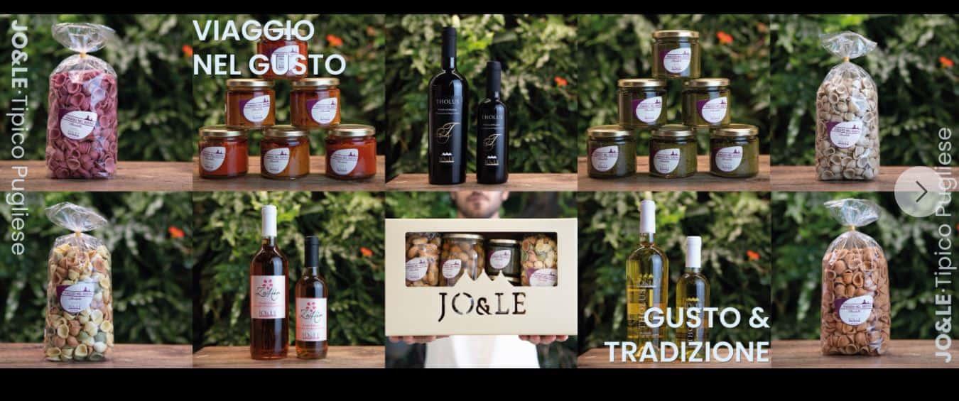 Acquista on-line prodotti pugliesi: scegli Jo&Le per non sbagliare