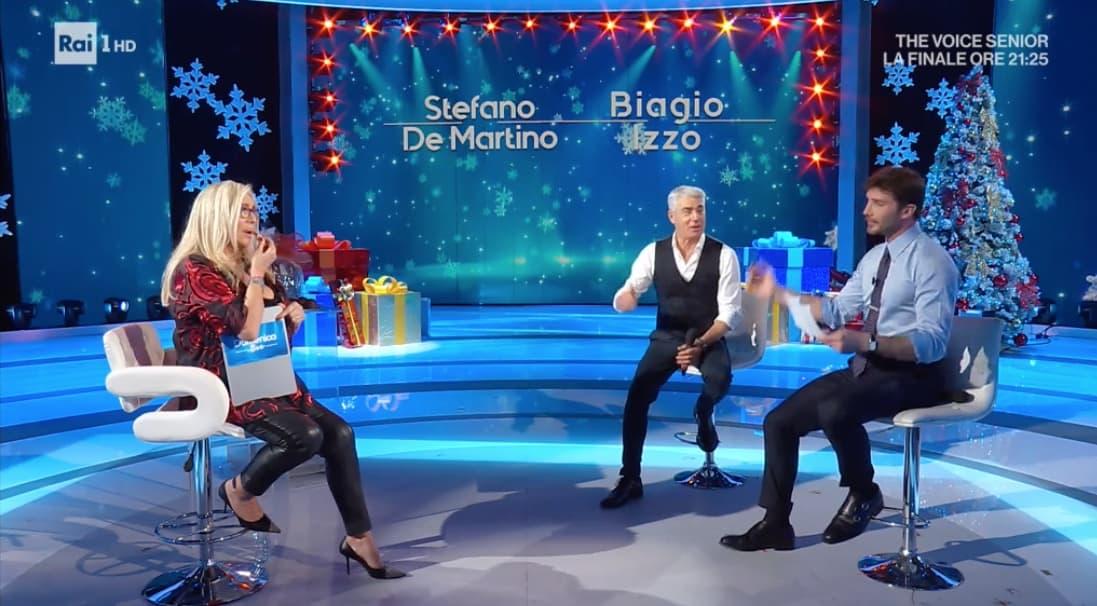 La lettera a Babbo Natale di Stefano De Martino e Biagio Izzo a Domenica In (Foto)