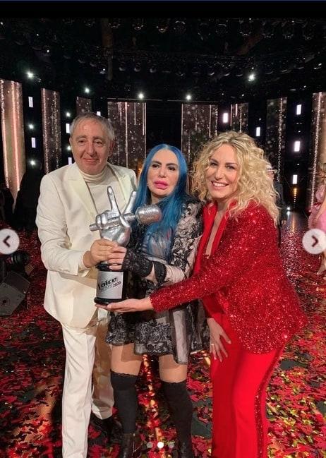 Ha vinto Antonella Clerici, il suo grazie di questa mattina per The Voice Senior (Foto)