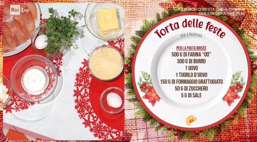 Torta delle feste di Natale di Francesca Marsetti, la ricetta  E' sempre mezzogiorno