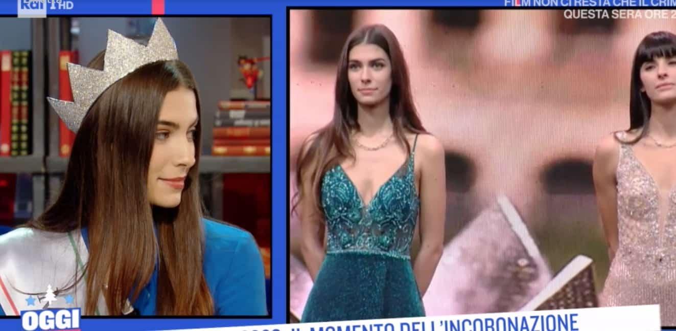 Miss Italia 2020, Martina Sambucini a Oggi è un altro giorno (Foto)