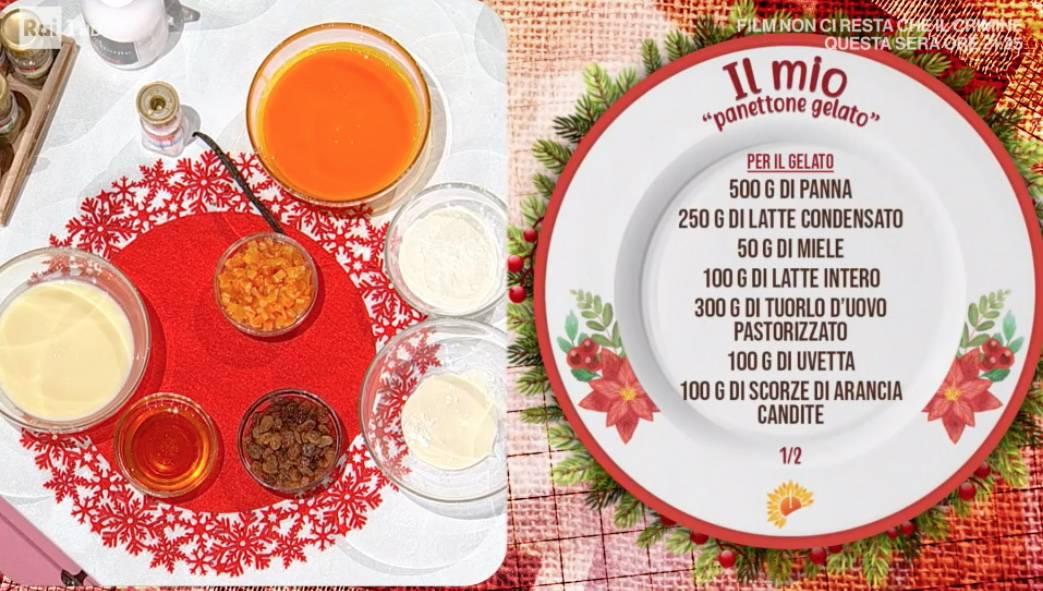 Il panettone gelato di Massimiliano Scotti, il dolce di Natale sempre senza gelatiera