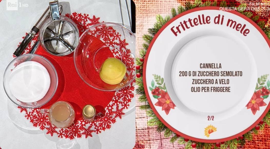 Frittelle di mele di Barbara De Nigris e sua figlia, la ricetta di Natale per E' sempre mezzogiorno