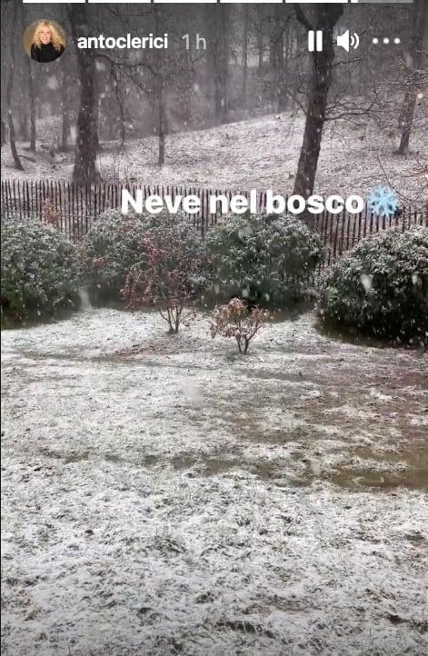 Nevica sul pranzo di Natale di Antonella Clerici ed è tutto perfetto (Foto)