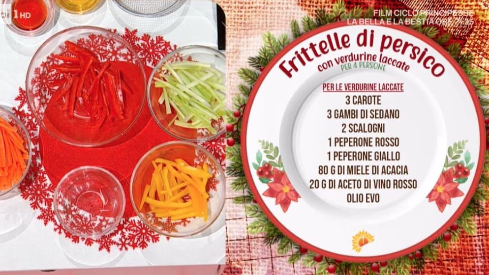 Frittelle di persico con verdurine, la ricetta di Francesca Marsetti