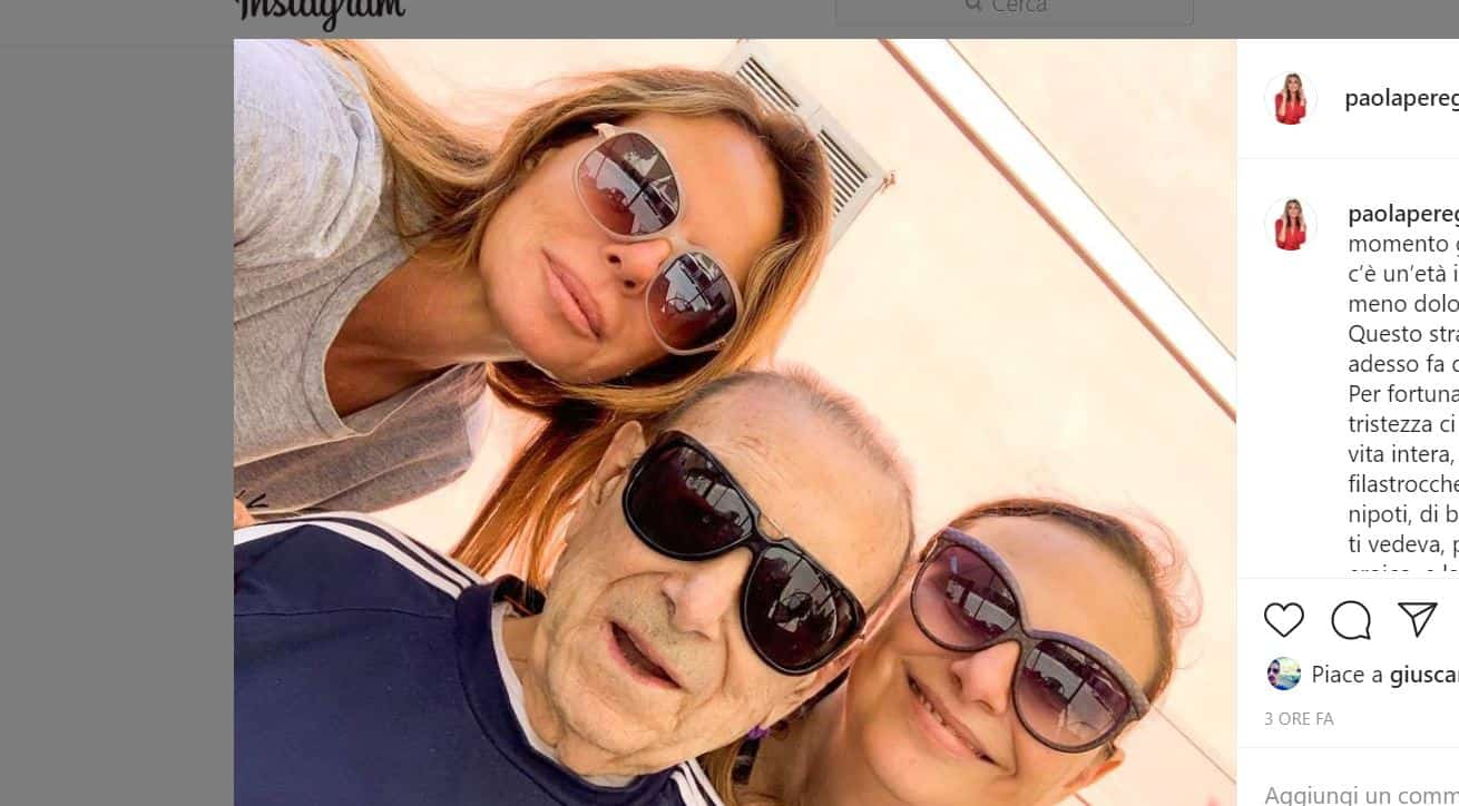 Paola Perego e il dolcissimo addio al suo papà dai social