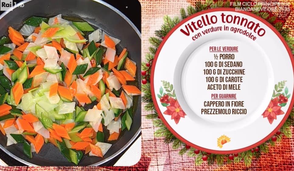 Vitello tonnato con verdure di Gian Piero Fava, ricette Capodanno da E' sempre mezzogiorno