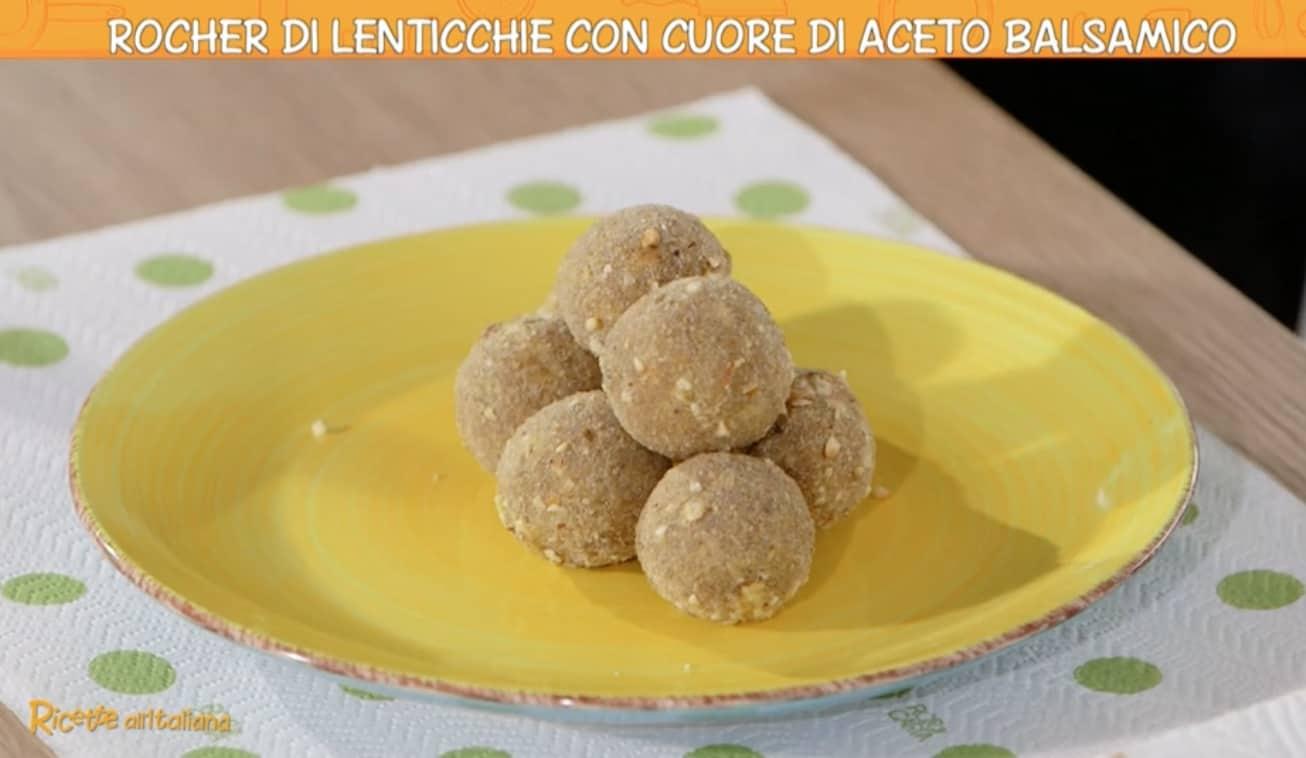 Rocher di lenticchie con aceto balsamico da Ricette all'italiana