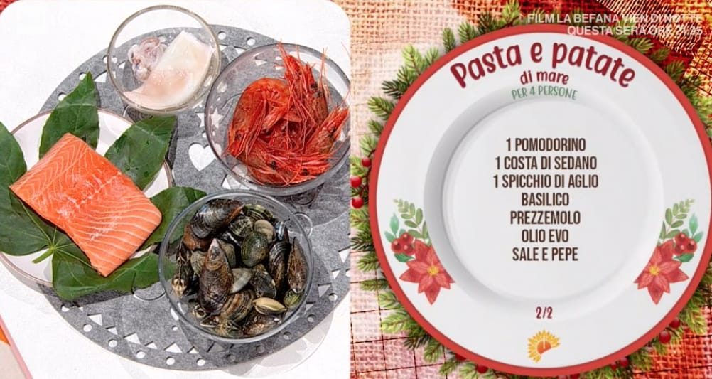Pasta e patate di mare degli Improta per le ricette E' sempre mezzogiorno