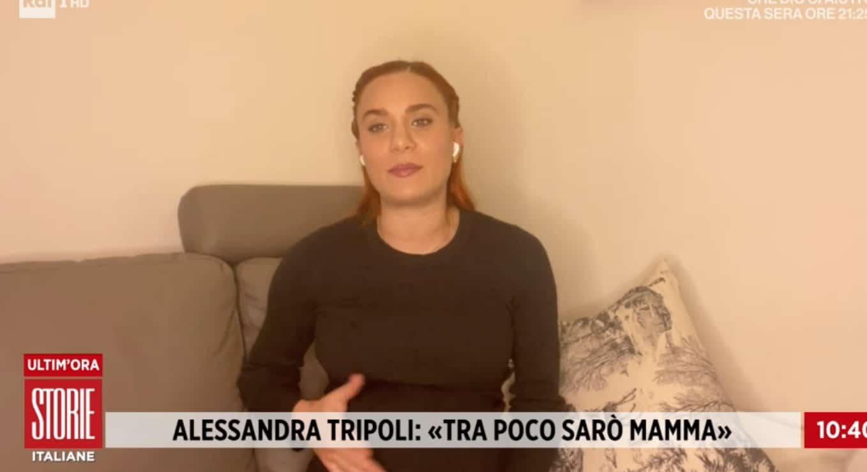 Forti contrazioni in diretta per Alessandra Tripoli: Storie Italiane attende il parto (Foto)
