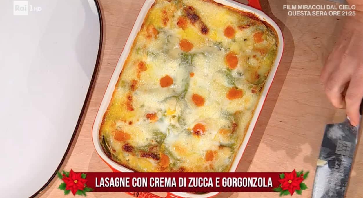 Ricette Daniele Persegani: lasagne verdi con crema di zucca, gorgonzola e besciamella