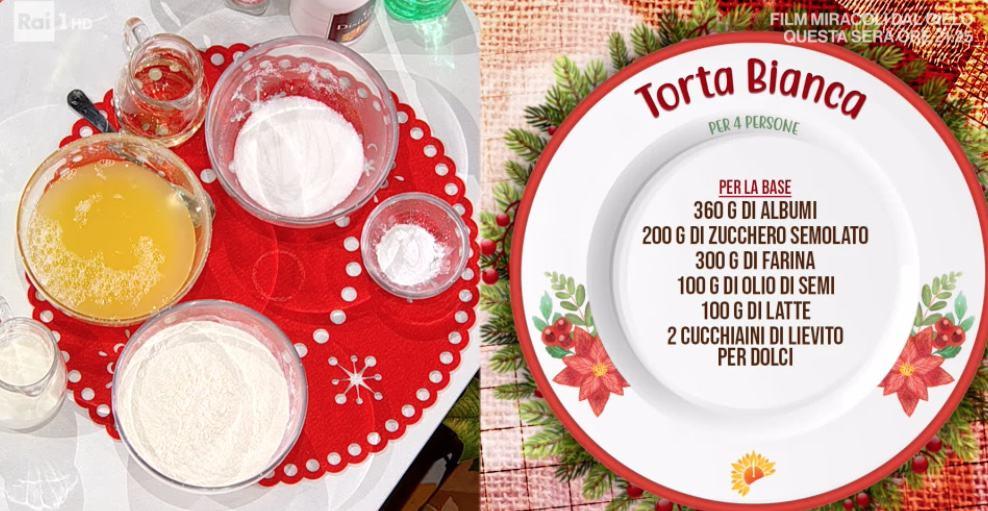 Torta bianca, la ricetta di Natalia Cattelani per E' sempre mezzogiorno
