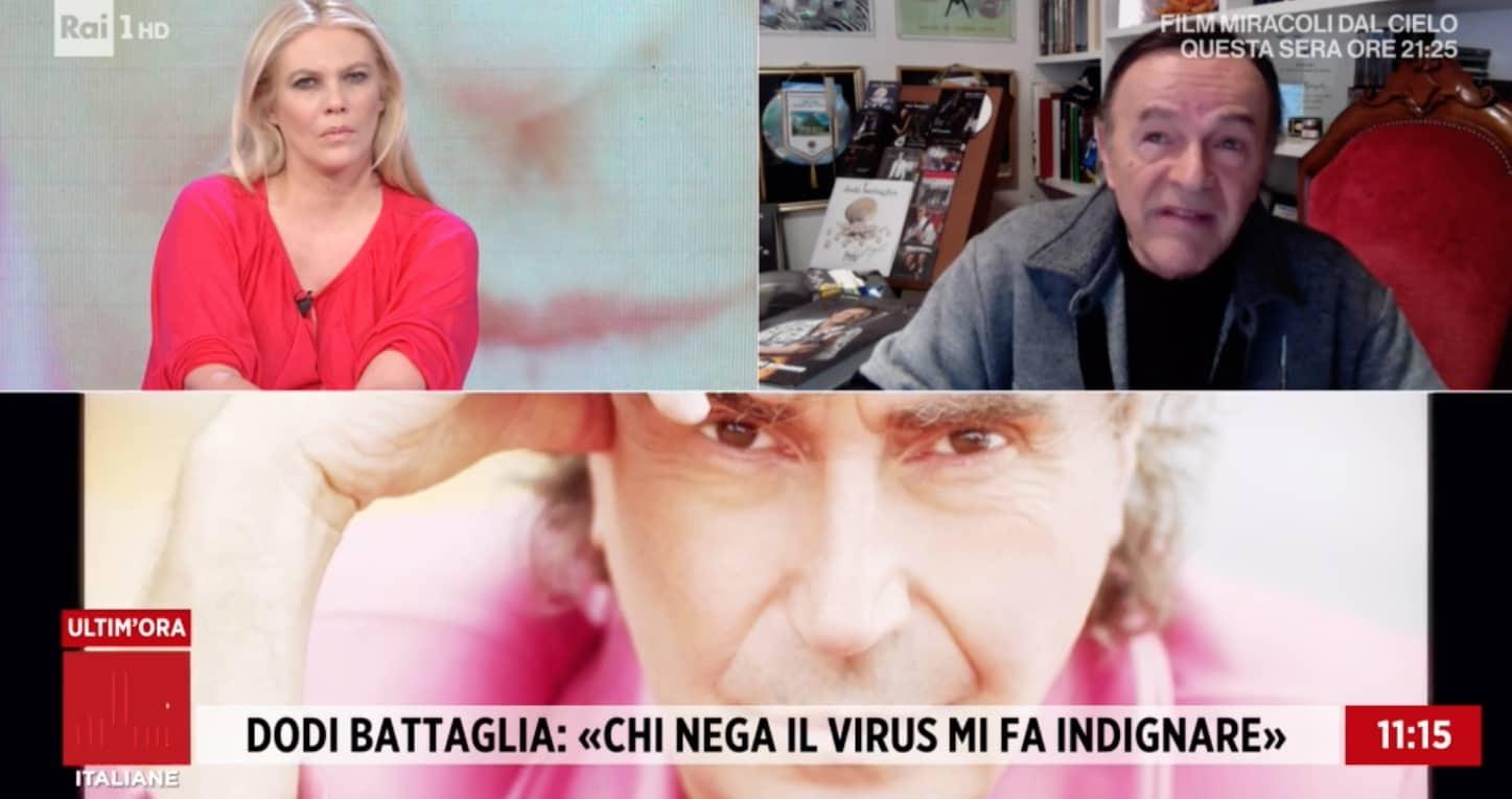 Dodi Battaglia propone concerti solo alle persone vaccinate (Foto)