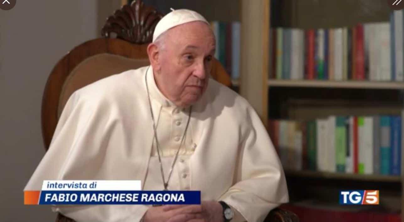L'intervista a Papa Francesco in onda su Canale 5 in esclusiva mondiale
