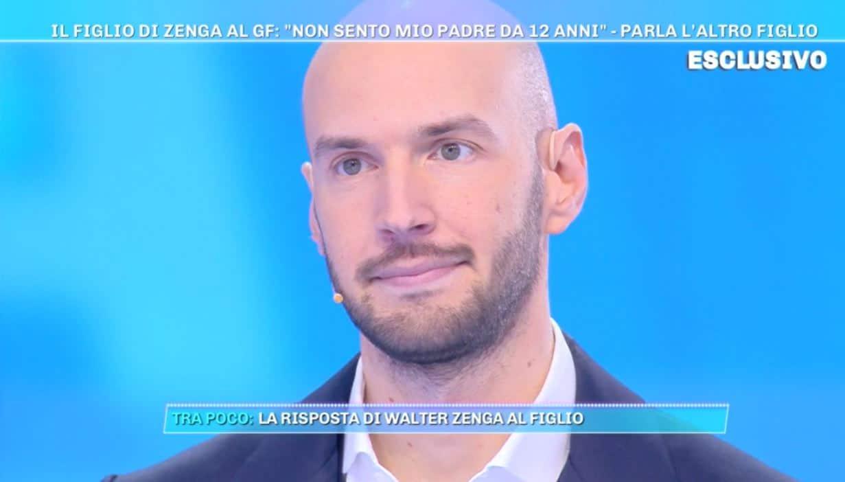 Nicolò Zenga a Domenica Live: lui e Andrea cresciuti senza papà Walter